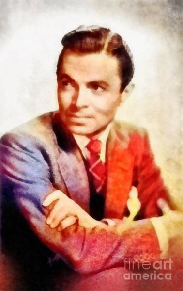 Wall Art - Painting - James Mason, Vintage Actor by Frank Falcon