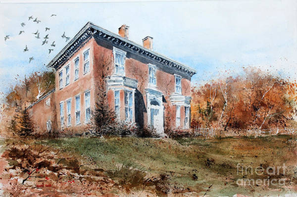Painting - James Mcleaster House by Monte Toon