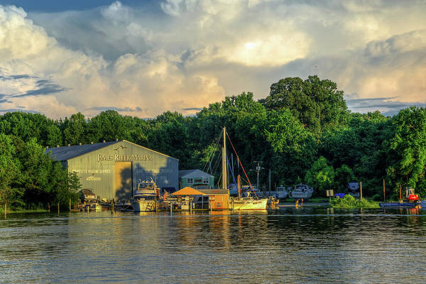 Photograph - James River Marina by Jerry Gammon
