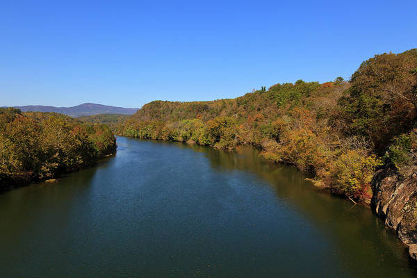 Photograph - James River With Fall Color by Jill Lang