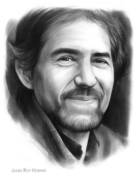 Academy Award Wall Art - Drawing - James Roy Horner by Greg Joens