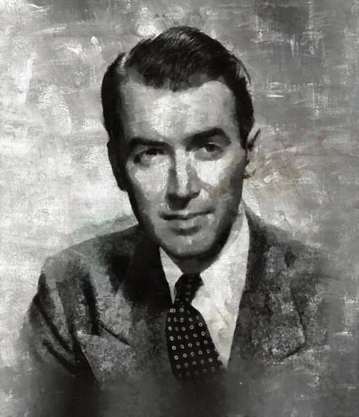Merchant Painting - James Stewart by Esoterica Art Agency