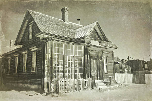 Bodie Ghost Town Wall Art - Photograph - James Stuart Cain Home by Lana Trussell