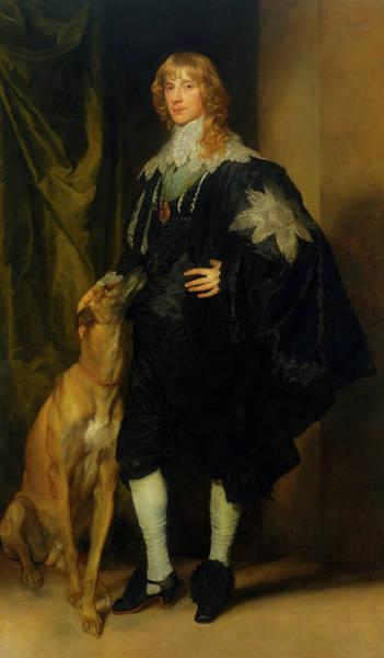 Black Great Dane Painting - James Stuart - Duke Of Richmond And Lennox                       by Mountain Dreams