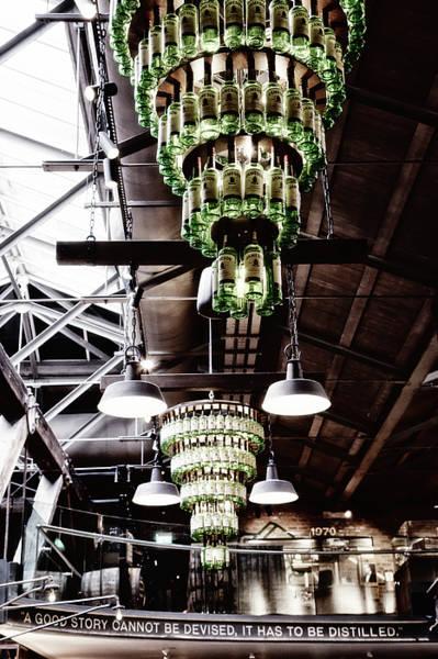 Photograph - Jameson Distillery - Whiskey Bottle Chandelier by Georgia Fowler