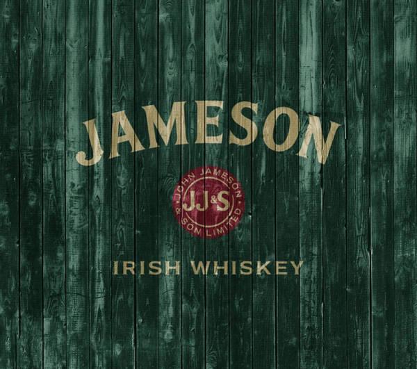 Rustic Mixed Media - Jameson Irish Whiskey Barn Door by Dan Sproul