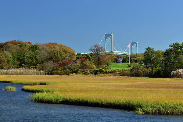 Photograph - Jamestown Marsh With Pell Bridge by Nancy De Flon