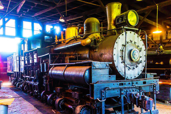Roundhouse Photograph - Jamestown Train No 2 by Garry Gay