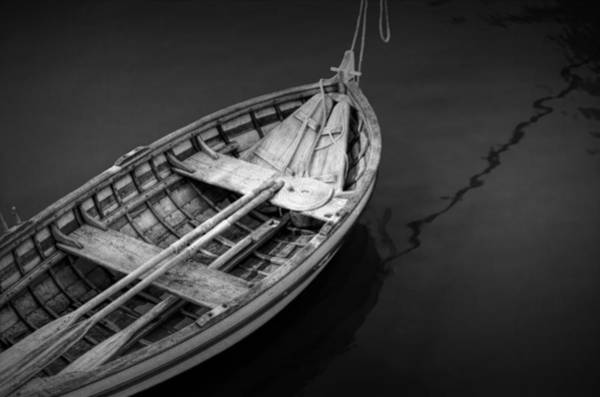 Floating Museum Photograph - Jamestown Wooden Rowboat by Randall Nyhof