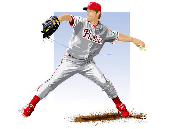 Citizens Bank Park Wall Art - Digital Art - Jamie Moyer by Scott Weigner