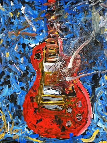 Painting - Jamin With The Les Paul by Neal Barbosa