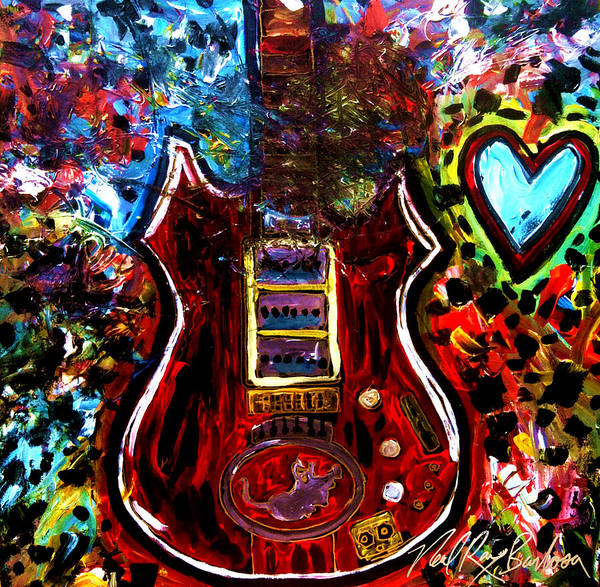 Painting - Jaming With Garcia by Neal Barbosa