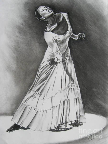 Charcoal Drawing - Jamison by Toni  Thorne