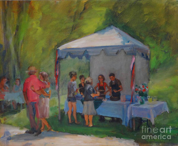 Painting - Jamming In The Gardens by Joan Coffey
