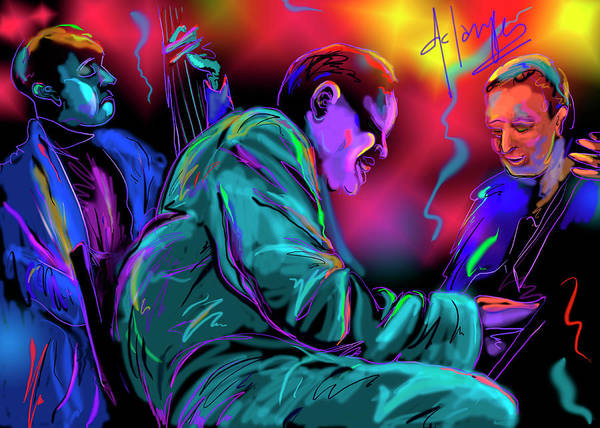 Painting - Jamming With Oscar by DC Langer