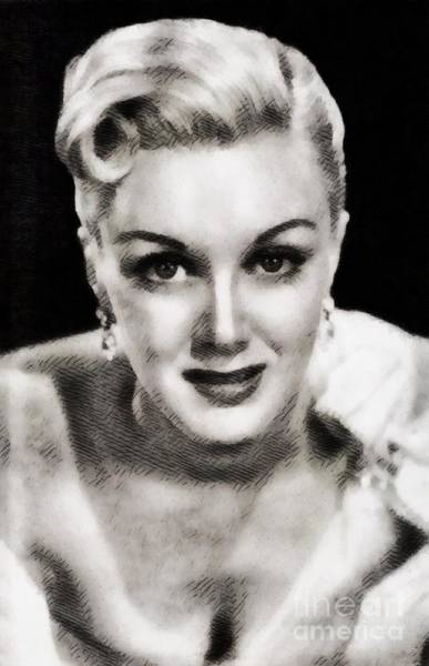 Sterling Silver Wall Art - Painting - Jan Sterling, Vintage Actress By John Springfield by John Springfield