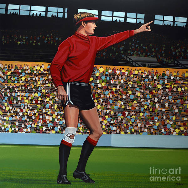 Stadium Painting - Jan Van Beveren by Paul Meijering