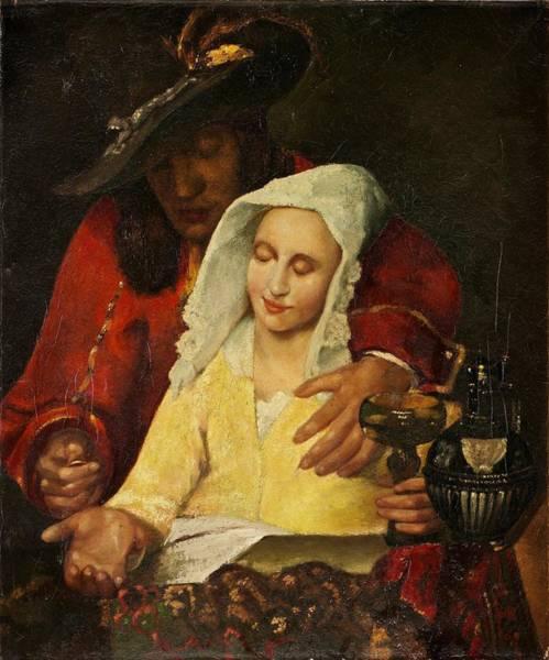 Postmark Painting - Jan Vermeer Van Haarlem Holland  by Johannes Vermeer