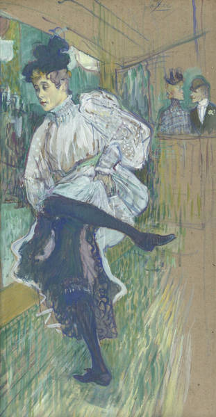 Painting - Jane Avril Dancing by Henri de Toulouse-Lautrec