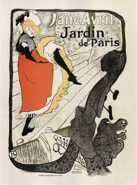 Wall Art - Mixed Media - Jane Avril - Jardin De Paris - French Dancer - Vintage Advertising Poster by Studio Grafiikka