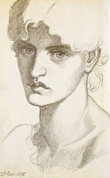 Drawing - Jane Morris by Dante Gabriel Rossetti