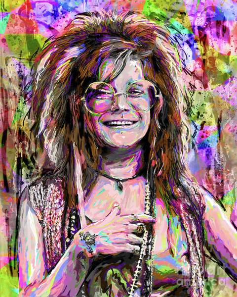 Classic Rock Mixed Media - Janis Joplin Art by Ryan Rock Artist