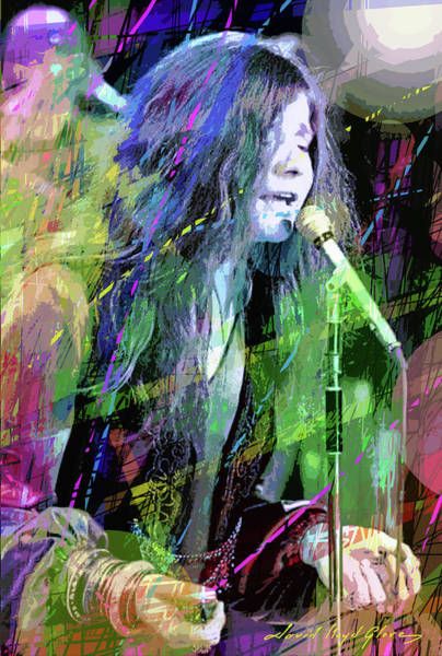 The Blues Brothers Painting - Janis Joplin Blue by David Lloyd Glover