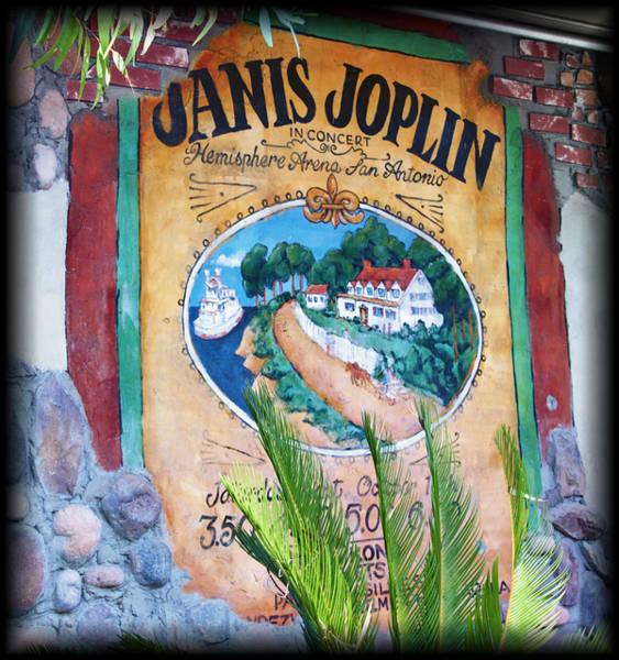 Janis Joplin Photograph - Janis Joplin In Concert Mural by Diane Wood