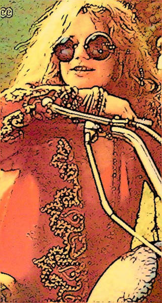 Janis Joplin Photograph - Janis Joplin by Lisa Dunn