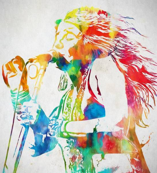 Peace And Harmony Wall Art - Painting - Janis Joplin Singing by Dan Sproul