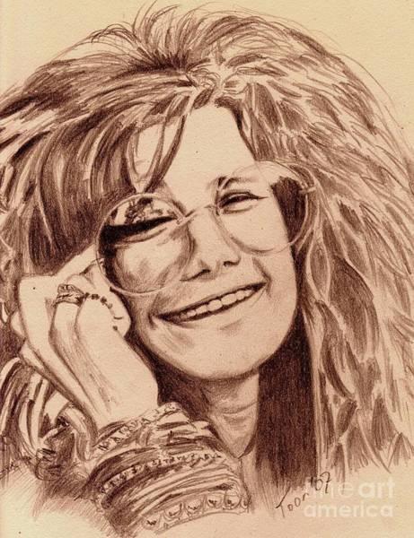 Drawing - Janis Joplin by Toon De Zwart