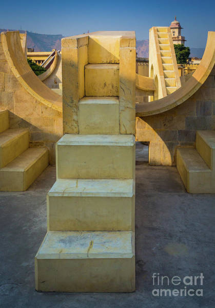 Photograph - Jantar Mantar Stairs by Inge Johnsson