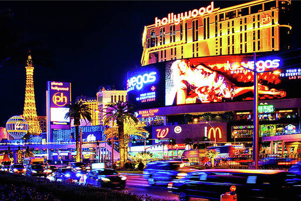 Photograph - January Night Fever In Las Vegas by Tatiana Travelways