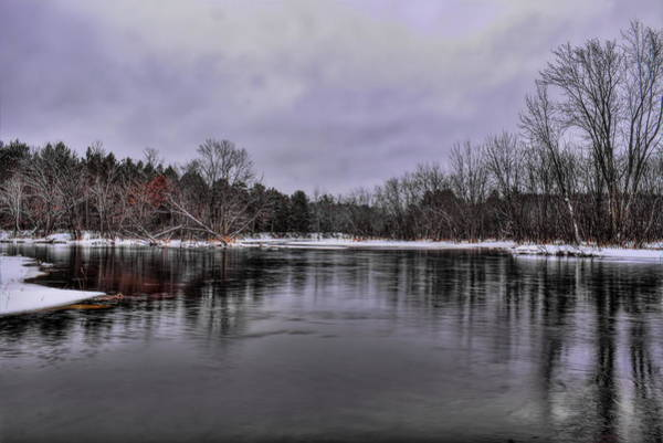 Photograph - January Skies Over The Wisconsin River by Dale Kauzlaric