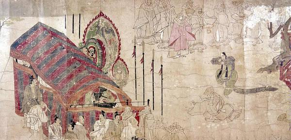 Feudal Japan Wall Art - Photograph - Japan: Buddhist Monks by Granger