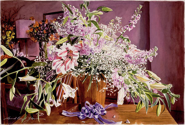 Painting - Japan Flowers by David Lloyd Glover
