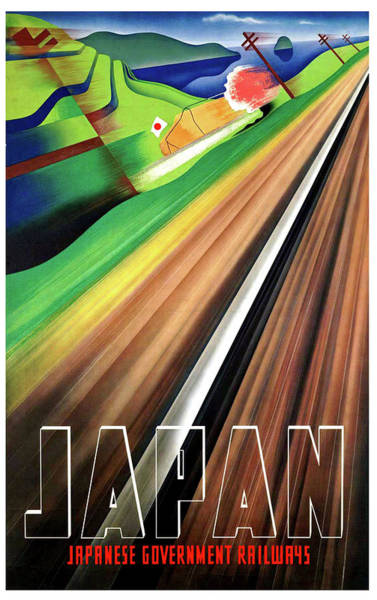 Railway Painting - Japan, Japanese Railways, Travel Poster by Long Shot