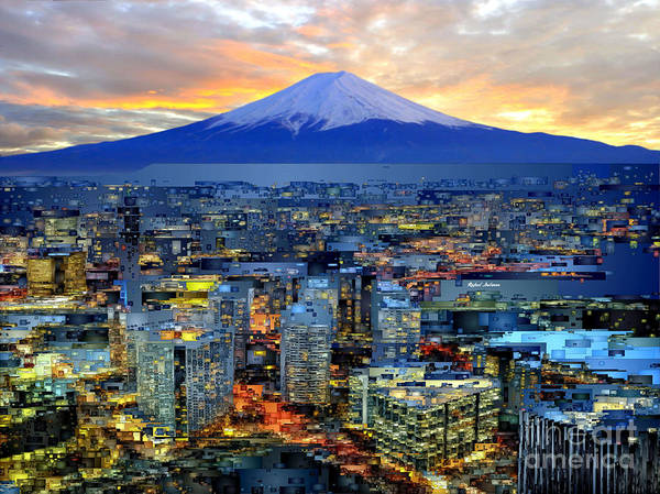 Digital Art - Japan Mount _fuji by Rafael Salazar