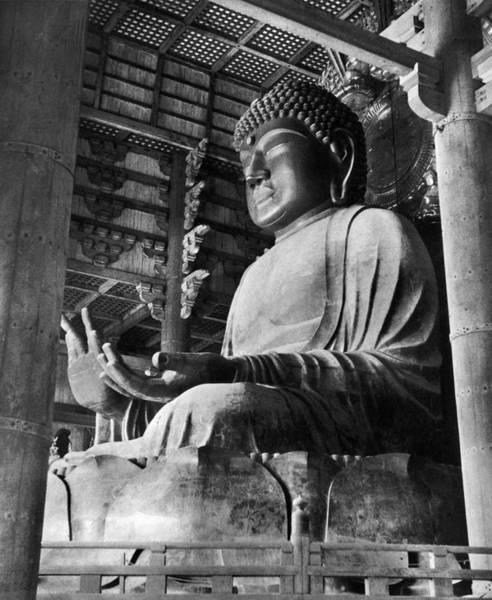 Giant Buddha Photograph - Japan: Nara Daibutsu by Granger