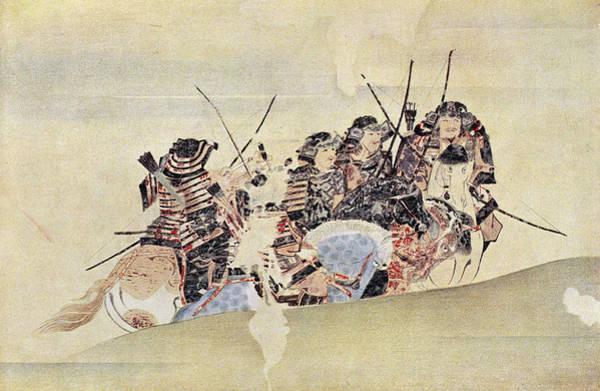 Photograph - Japan: Samurai, 1281 by Granger