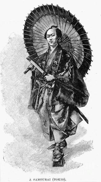 Photograph - Japan: Samurai, 1893 by Granger
