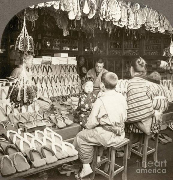 Photograph - Japan: Shoe Store, C1910 by Granger