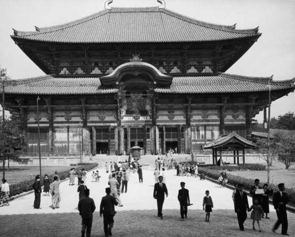 Wall Art - Photograph - Japan: Temple, C1965 by Granger