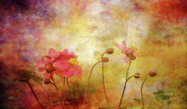 Japanese Anemone Landscape 3959 Idp_2 Art Print