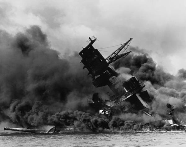 Uss Arizona Wall Art - Painting -  Japanese Attack On Pearl Harbor by MotionAge Designs