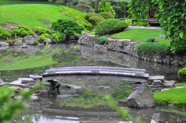 Wall Art - Photograph - Japanese Garden Bridge - Philadelphia by Bill Cannon