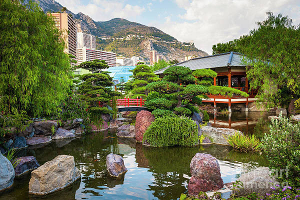 Gazebo Photograph - Japanese Garden In Monte Carlo by Elena Elisseeva