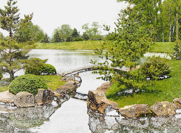 Wall Art - Photograph - Japanese Garden In Ohio by Mindy Newman