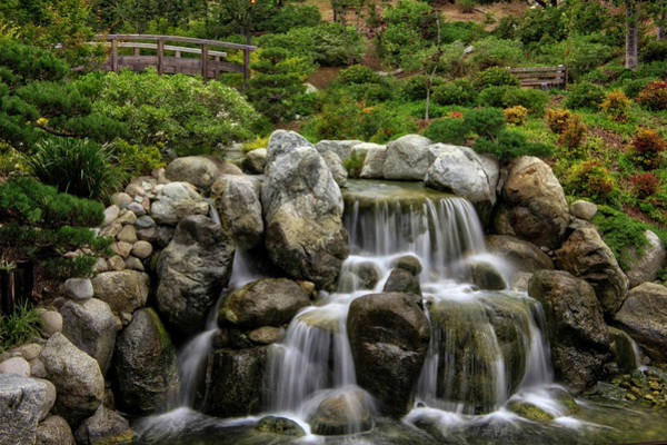 Japanese Garden Waterfalls Art Print