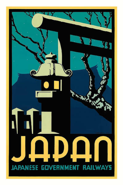 Government Digital Art - Japanese Government Railways Vintage World Travel Poster By Pieter Irwin Brown by Retro Graphics